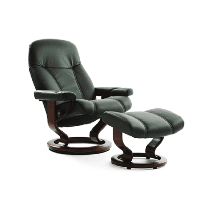Stressless Consul Recliner and Ottoman
