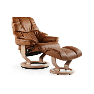 Stressless Reno Recliner and Ottoman