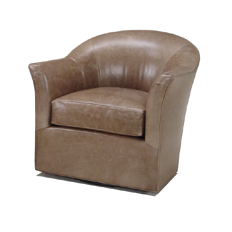 Mccreary modern swivel glider chair decorum furniture for Modern swivel chair