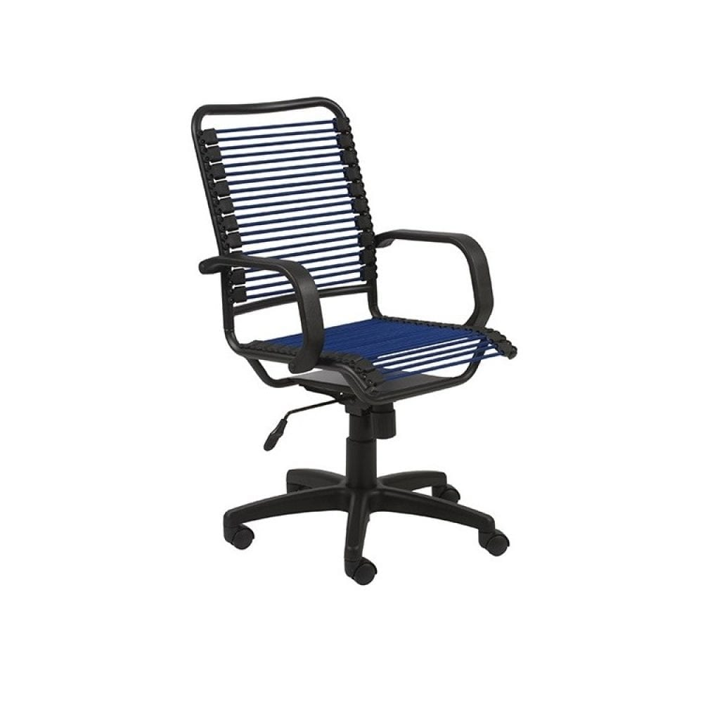 Euro Style Bradley Bungie Desk Chair - Blue