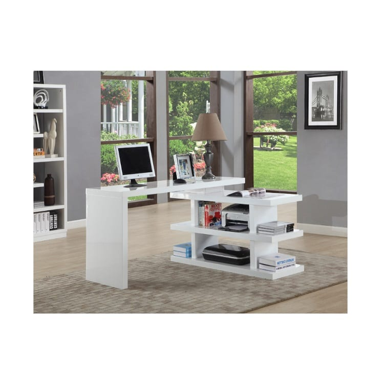 Chintaly Desk With Shelves