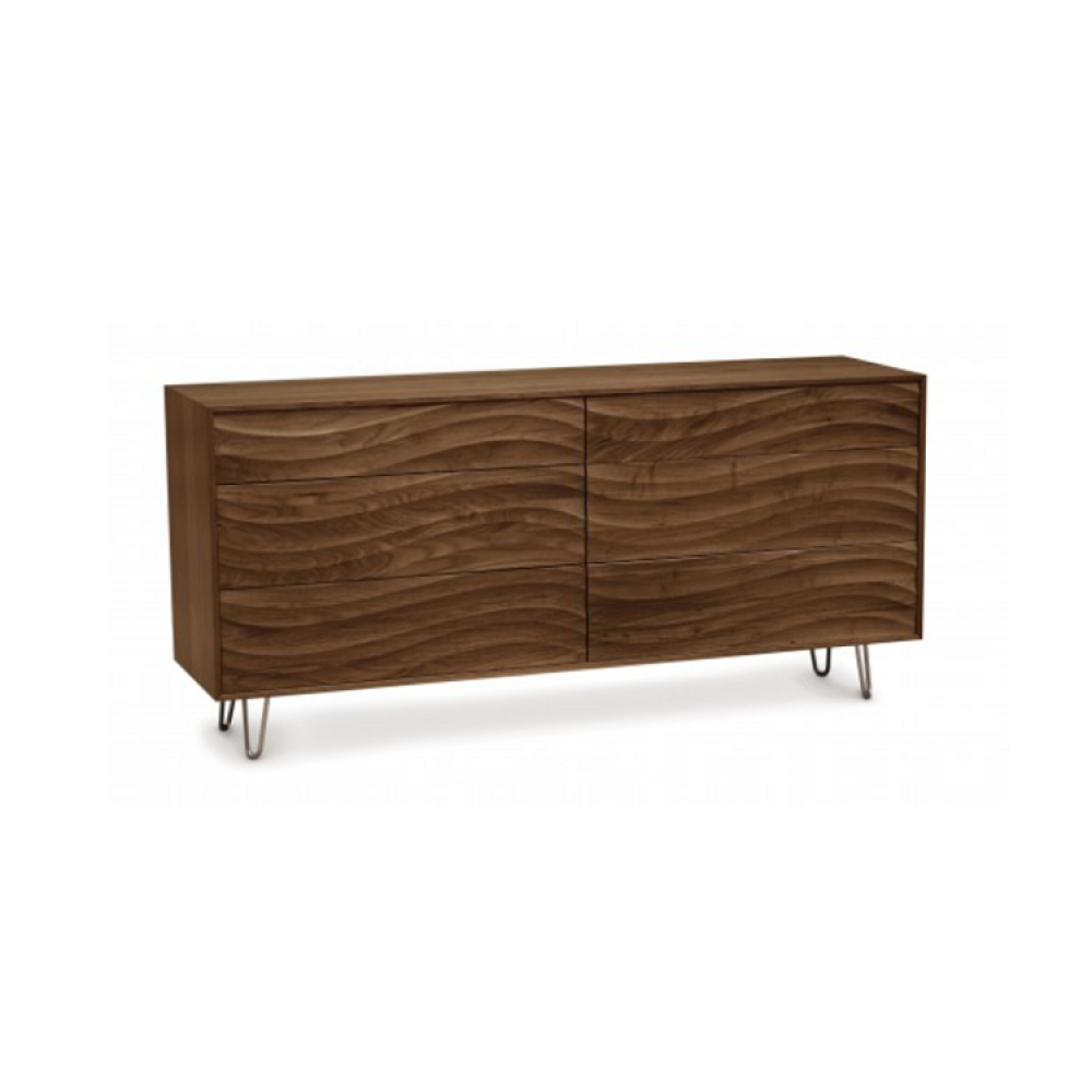 Copeland Wave Bedroom Collection - 6 Drawers