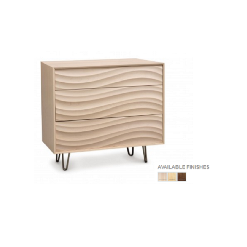 Copeland Wave Bedroom Collection - 3 Drawers