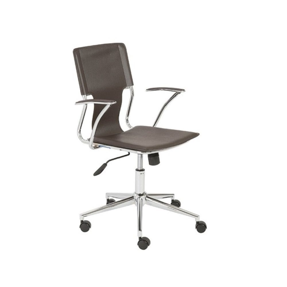 Euro Style Terry Office Chair - Brown