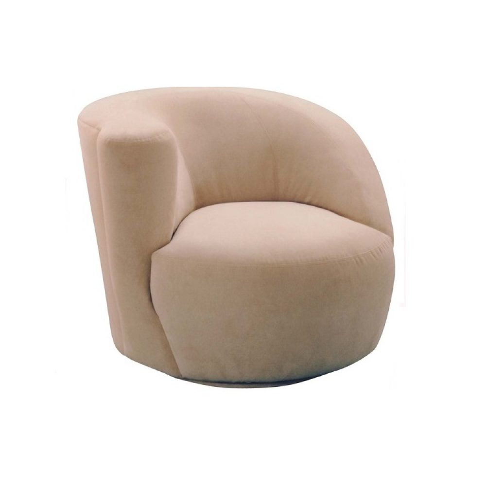Lazar Scroll Corkscrew Swivel Chair