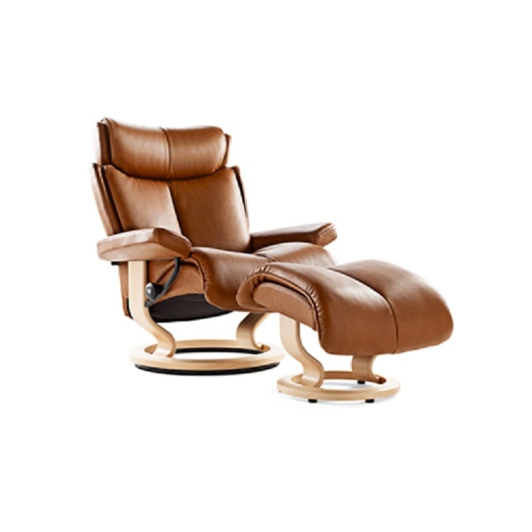 Stressless Magic Chair and Ottoman