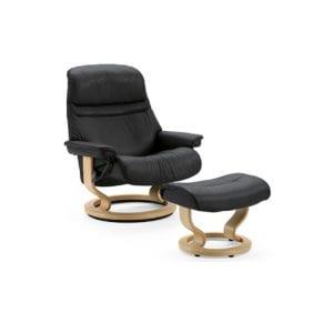 Stressless Sunrise Chair and Ottoman