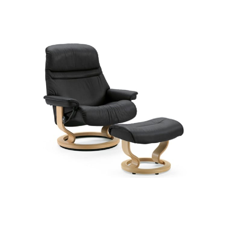 Stressless Sunrise Chair and Ottoman