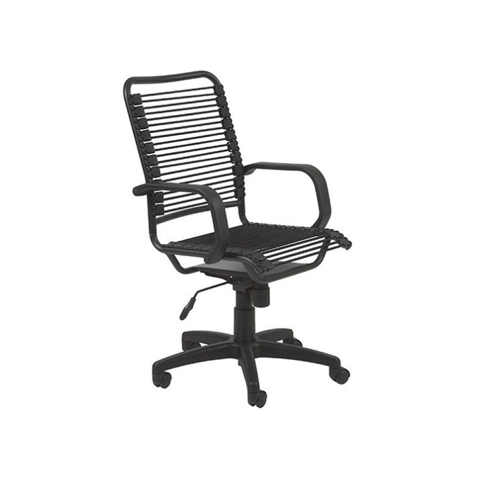 Euro Style Bradley Bungie Desk Chair - Black