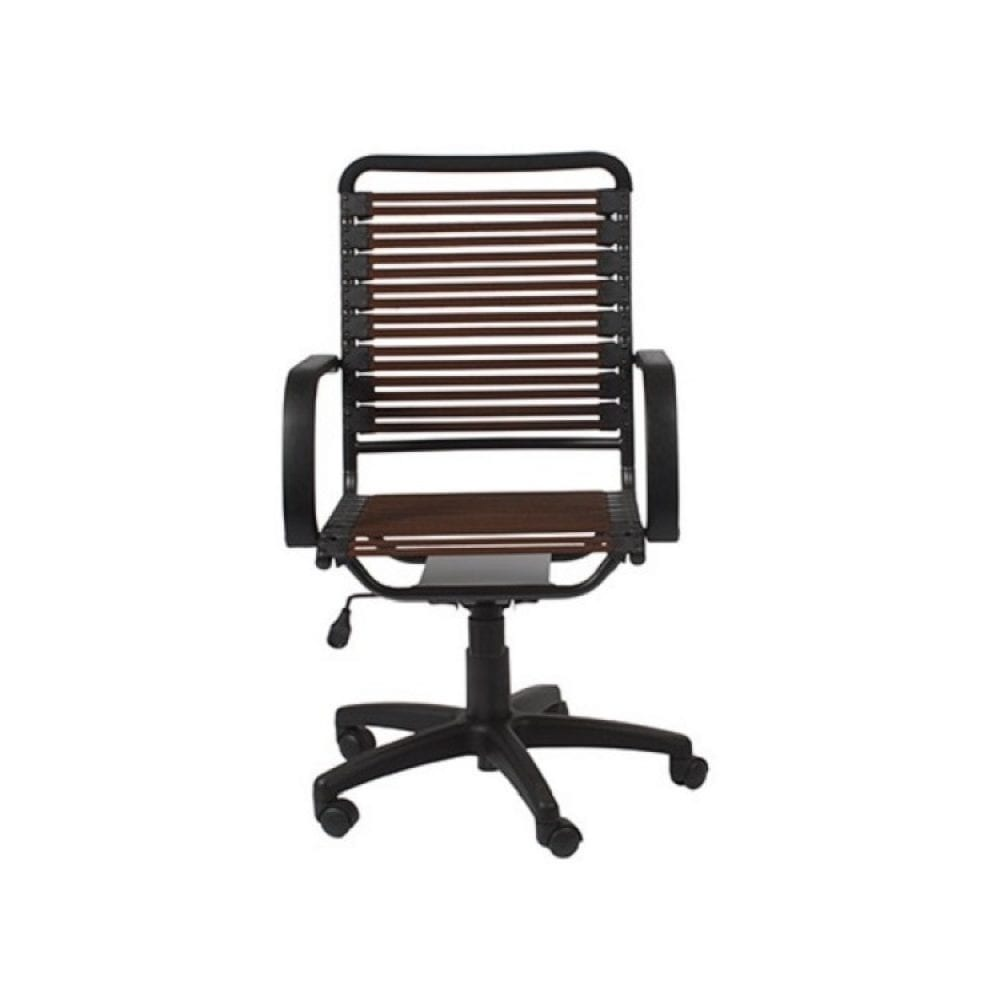 Euro Style Bungie High Back Desk Chair - Brown