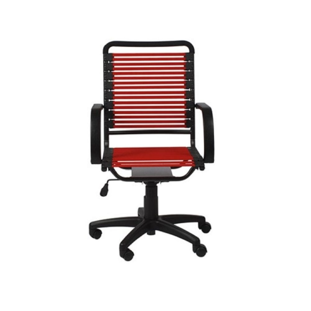 Euro Style Bungie High Back Desk Chair - Red
