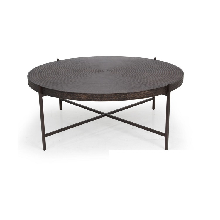 Urbia Sanskrit Hammered Copper Coffee Table