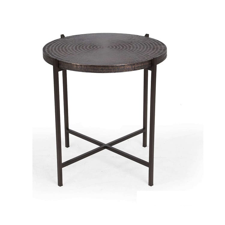Urbia Sanskrit Hammered Copper End Table