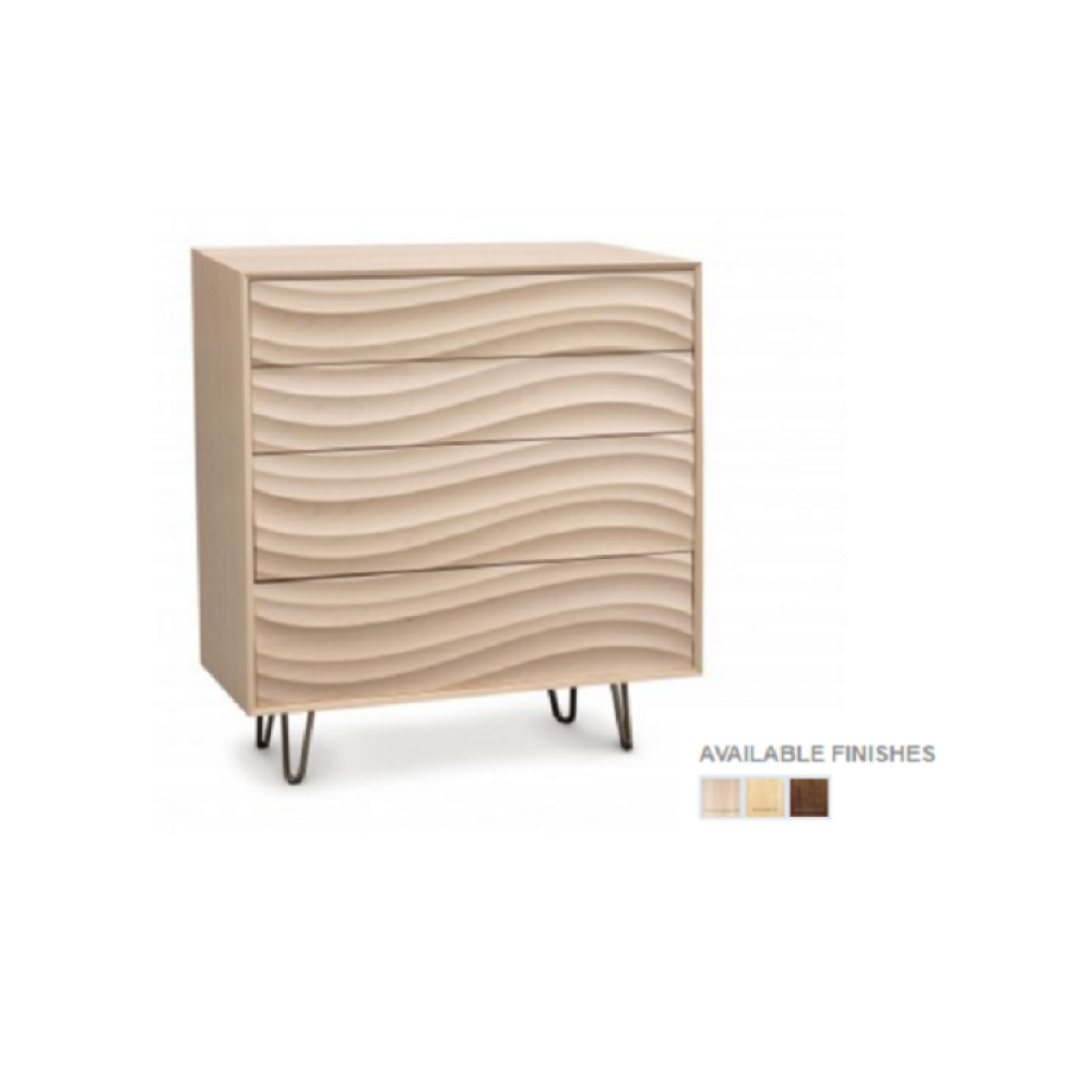 Copeland Wave Bedroom Collection - 4 Drawers