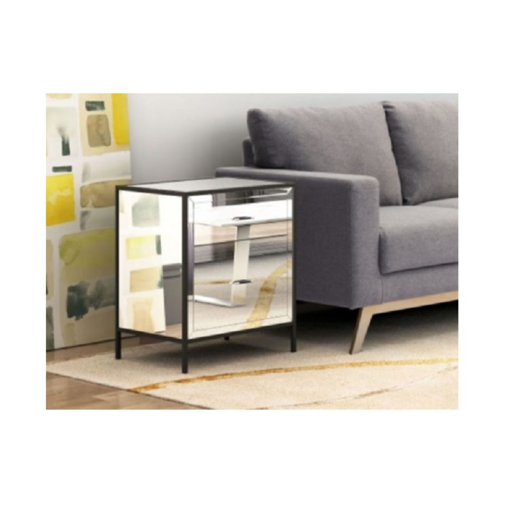 Charmant Zuo Modern U2013 Upton Mirrored End Table ...